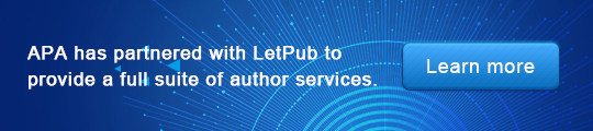 APA has partnered with LetPub to provide a full suite of author services