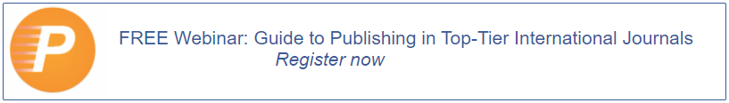 FREE Webinar: Guide to Publishing in Top-Tier International Journals